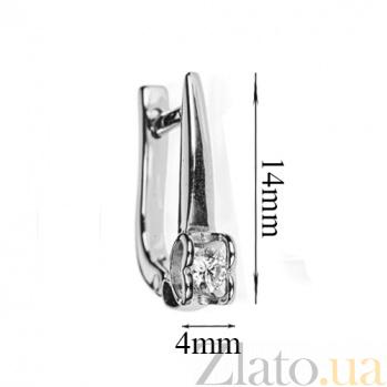 Золотые серьги с бриллиантами Первая любовь E0692/бел