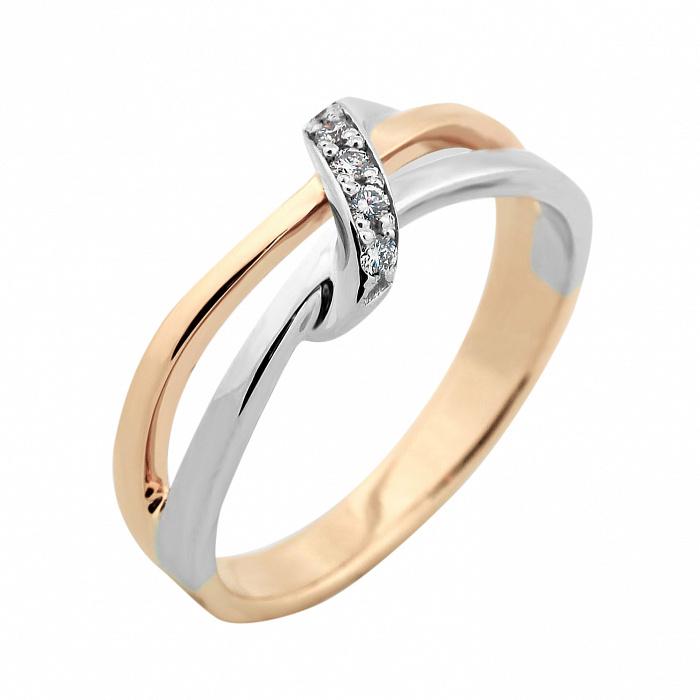 Золотое кольцо Алисия в комбинированном цвете с бриллиантами VLA--13320