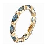 Кольцо в желтом золоте Ирина с лондон топазом