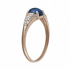 Золотое кольцо с топазом и фианитами Долореса