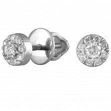 Серьги из белого золота Сиаста с бриллиантами