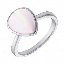 Серебряное кольцо с перламутром 000127295