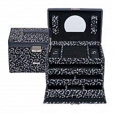 Черная шкатулка для украшений WindRose Panthera с животным принтом