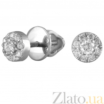 Серьги из белого золота Сиаста с бриллиантами 000045965