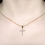Крестик из желтого золота Калерия