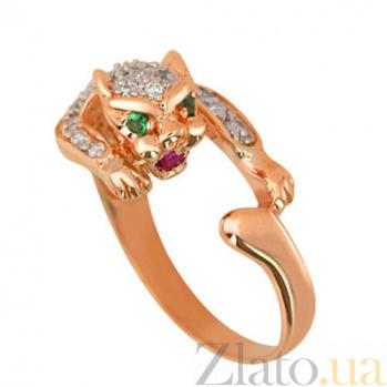 Кольцо из золота Пантера с фианитами VLT--Е063