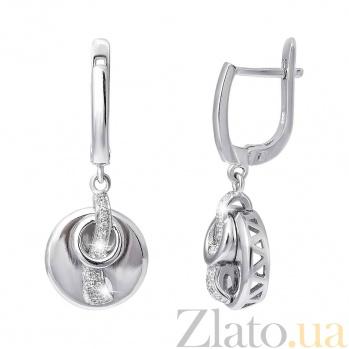 Серебряные серьги Гера AQA--SK-SB010-E