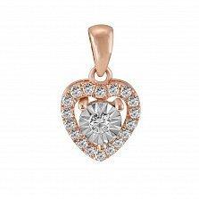 Кулон из золота с бриллиантами Свет сердца