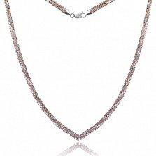 Серебряная цепь Джоконда с позолотой