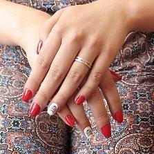 Золотое обручальное кольцо Кровь с молоком с гранжевой поверхностью, 4мм