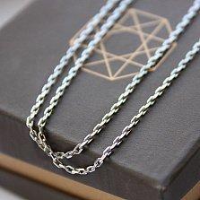 Серебряная цепочка покрытая родием Имидж