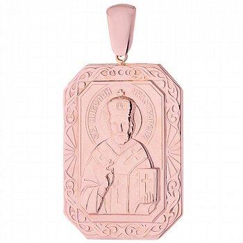 Золотая ладанка Святой Николай Чудотворец 000052555