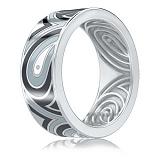 Мужское обручальное кольцо Талисман: Гармонии из белого золота