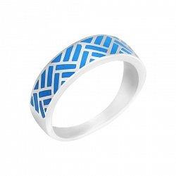 Серебряное кольцо Авалон с синей эмалью