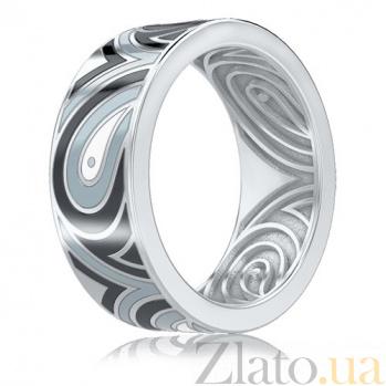 Мужское обручальное кольцо Талисман: Гармонии из белого золота 3313