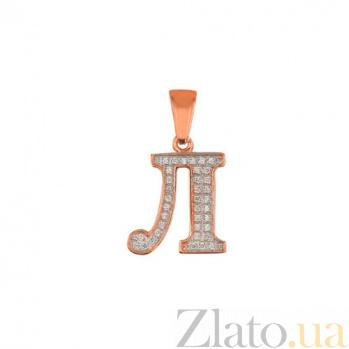 Золотая подвеска Буква Л VLT--ЕЕ3549-Л