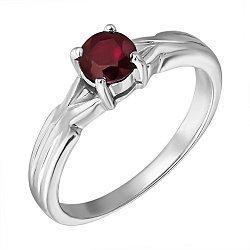 Серебряное кольцо с гранатом 000133599
