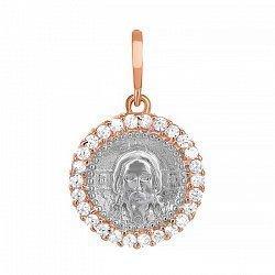 Серебряный подвес-ладанка с фианитами Иисус Христос 000034050