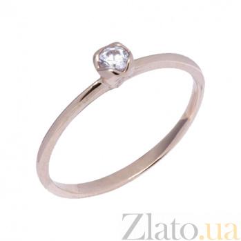 Кольцо из красного золота с фианитом Джесси 000023170
