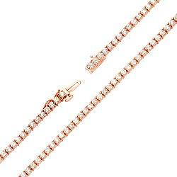 Браслет из красного золота с бриллиантами 000114277