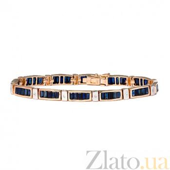Золотой браслет с бриллиантами и сапфирами Стронг ZMX--BCS-6104_K