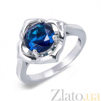 Кольцо серебряное с синим куб.цирконием Молли AQA--WJR-0141-RS