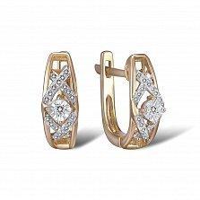 Серьги из золота Саммер с бриллиантами