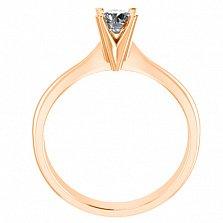 Помолвочное кольцо из красного золота Победа любви с бриллиантом 3,9мм