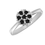 Кольцо из белого золота Сильвия с бриллиантами