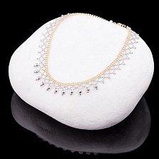 Золотой браслет на ногу с шариками Мамба