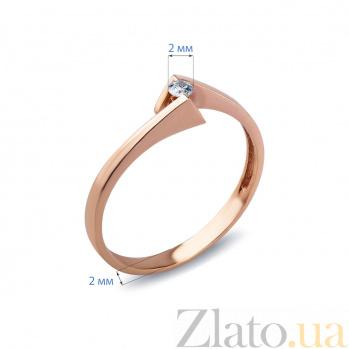 Кольцо Alexis с бриллиантом из красного золота AQA--КД381д