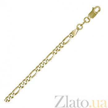 Серебряный браслет Сарагоса с позолотой, 3,5 мм, 21 см 000027656