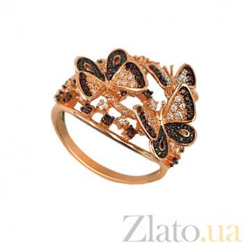 Золотое кольцо Танец бабочек с цирконием VLT--ТТ1139-2