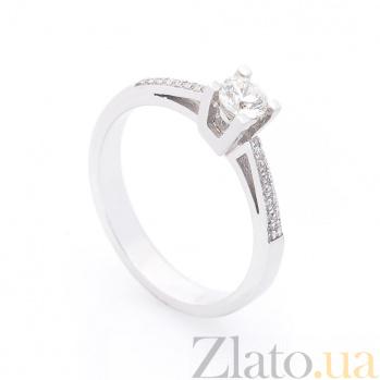 Кольцо из белого золота Павлина с бриллиантами 000096476