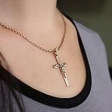 Крестик золотой Вера