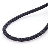 Шелковый шнурок Спаси и сохрани с серебряной застежкой, 4мм