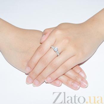 Серебряное кольцо Роскошь с фианитами 000015051