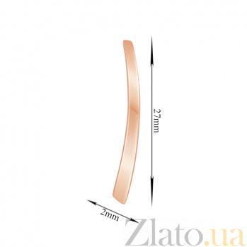 Серьги-каффы Катарина в розовом золоте 000044967