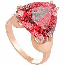 Золотое кольцо Статус с корундом
