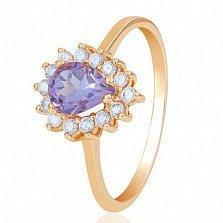 Золотое кольцо Фаина с аметистом и фианитами EDM--КД4033АМЕТИСТ в интернет магазине Злато