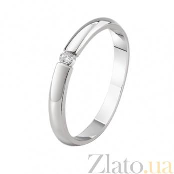 Кольцо из белого золота с бриллиантом Истинная элегантность KBL--К1013/бел/брил