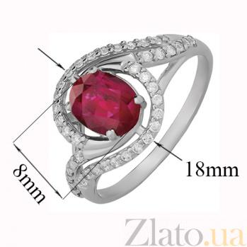 Серебряное кольцо с рубином Шантье 000015332