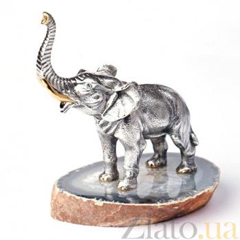 Серебряная статуэтка с позолотой Слон 318