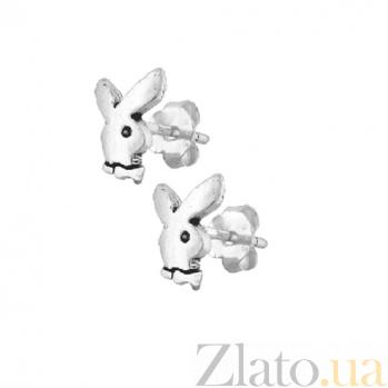 Серьги-гвоздики из серебра Playboy SLX--С5/009