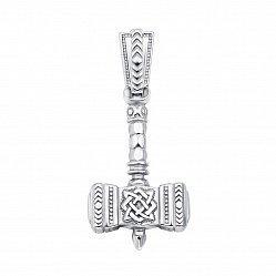 Серебряная подвеска Молот Сварога 000133245