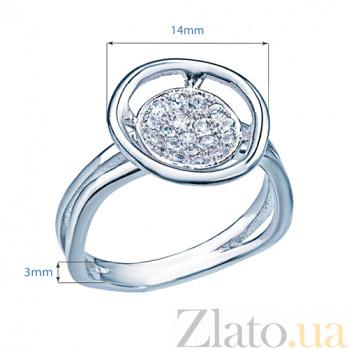 Серебряное кольцо с фианитами Валери 000027185