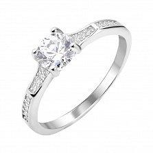 Серебряное кольцо Делла с фианитами