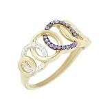 Золотое кольцо с фианитами Айседора
