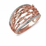 Кольцо Тина из красного золота с бриллиантами