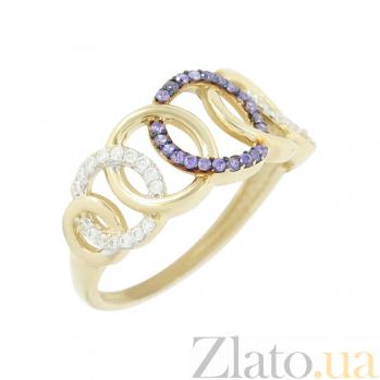 Золотое кольцо с фианитами Айседора 2К765-0049